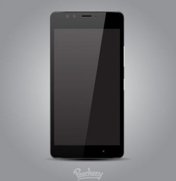 microsoft lumia 950 smartphone mockup realistic design