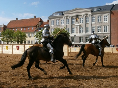 middle ages knights horses