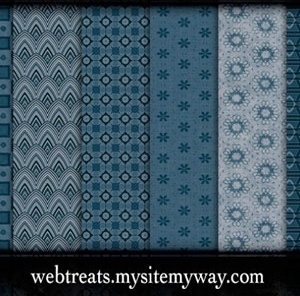 Midnight Blue Photoshop Patterns