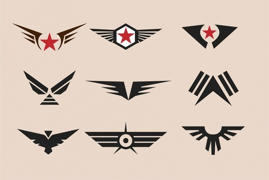 military badges collection design with vintage style