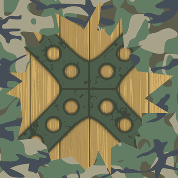 Military elements frame vector