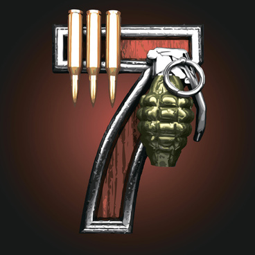 Military with metal number vintage vector