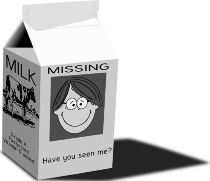 Milk Carton clip art