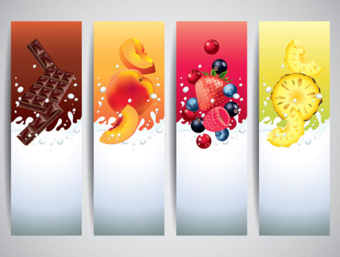 milk drinks banner creative vector