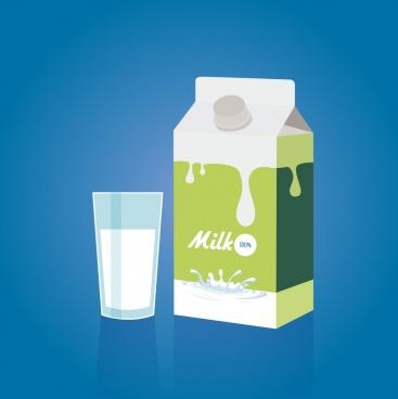milk promotion banner glass box decoration