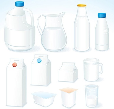 milk theme vector 1