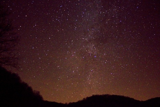 milky way above the hills at hogback prairie wisconsin