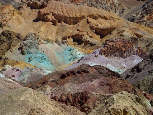 minerals death valley colors