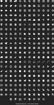 mini black and white web icons vector