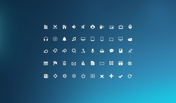 Mini Glyphs Icon Set
