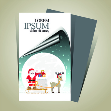 minimalistic15 merry christmas flyer cover vector