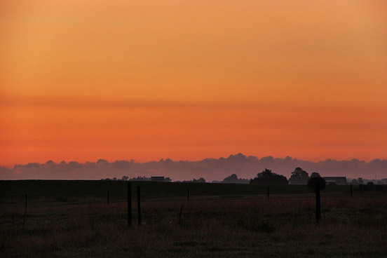 minimalistic at sunset