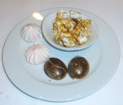 mints chocolate and popcorn