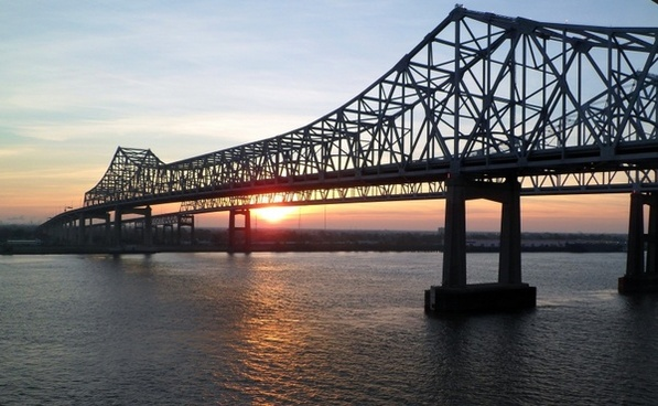 mississippi bridge sunrise