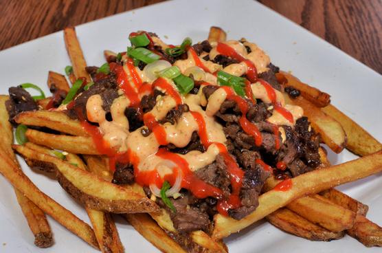 mmm kimchi fries with bulgogi