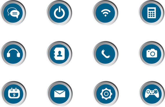 mobile app icon set