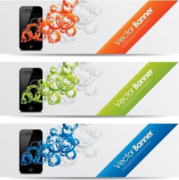 mobile banner design trend pattern vector