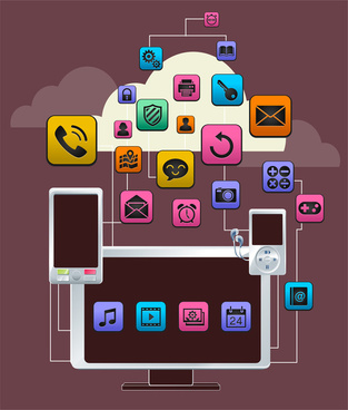 mobile icons app collection