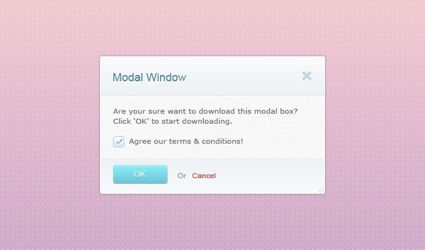 Modal Window PSD