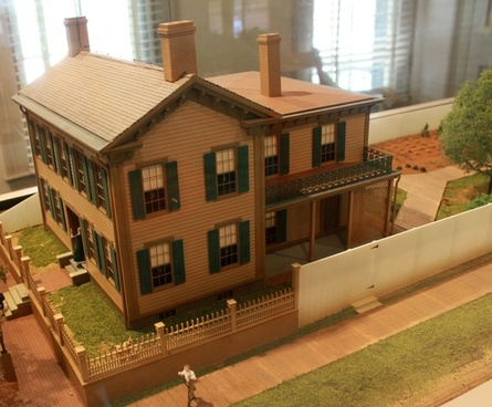 model of lincoln home after remodel in springfield illinois