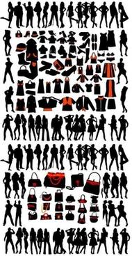 model silhouette vector