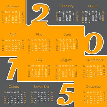 modern15 business calendar design vector
