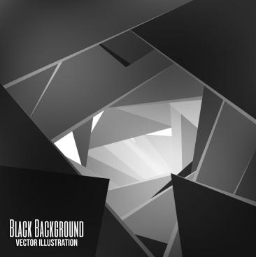 modern abstract background black white 3d geometric design