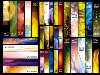 modern abstract banners vector set