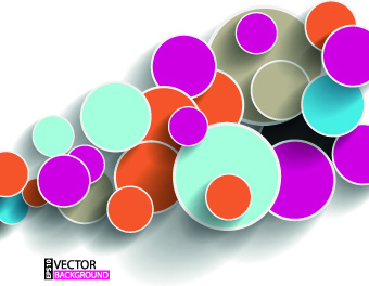 modern abstract shapes background vector