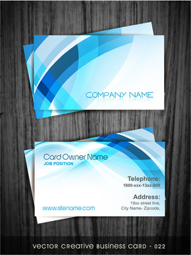 modern abstract style business cards design
