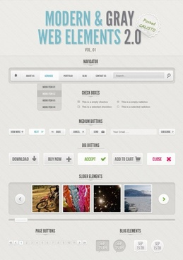 modern amp gray web elements psd layered