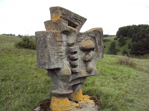modern art warrior stone