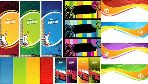 modern banner backgrounds vector graphic
