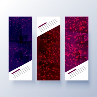 modern banner templates dark polygonal decor
