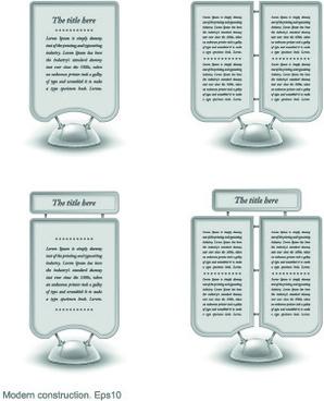 modern banner web design elements vector