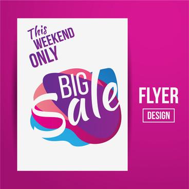 modern big sale vector flyer