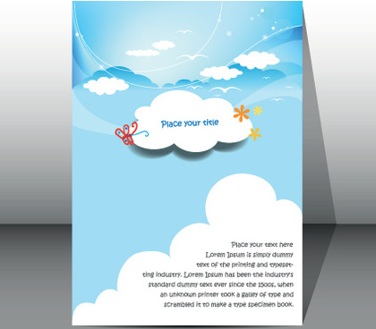 modern business brochure covers vector