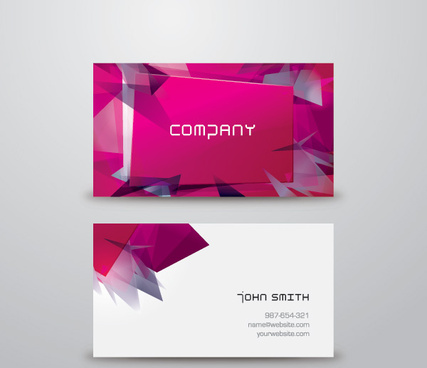 modern business card vector graphic