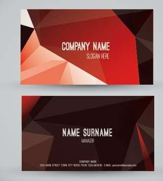 modern business cards creative vector