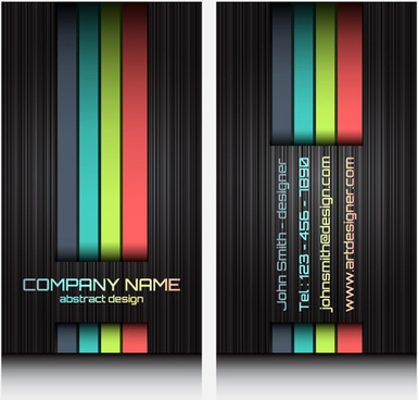 modern business cards front and back template vector