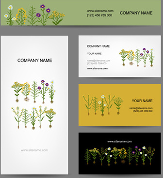 modern business cards kit vector