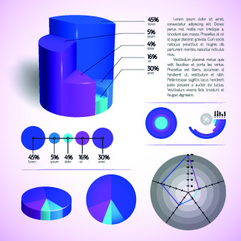 modern business diagram and infographic design vector