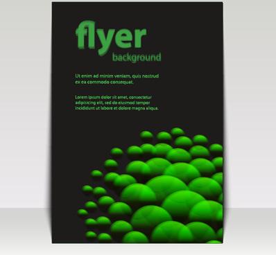 modern business flyer backgrounds vector