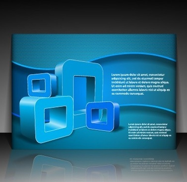 modern business letterhead and brochure cover vector