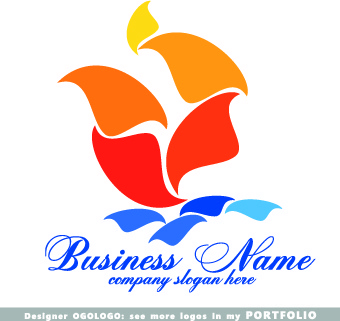 modern business logos creative design vectors