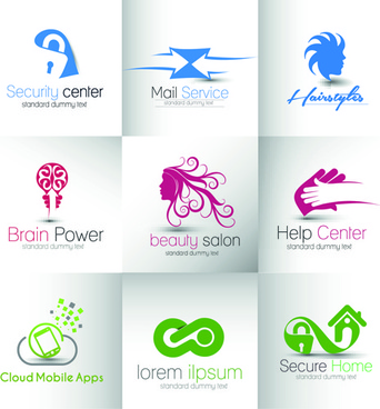 modern business logos design art vector