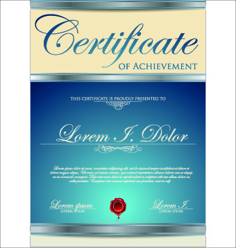 modern certificate creative design vector set