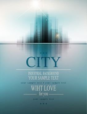 modern city blurs background graphics