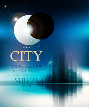 modern city blurs background graphics