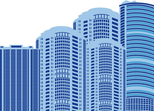 modern city building design vector